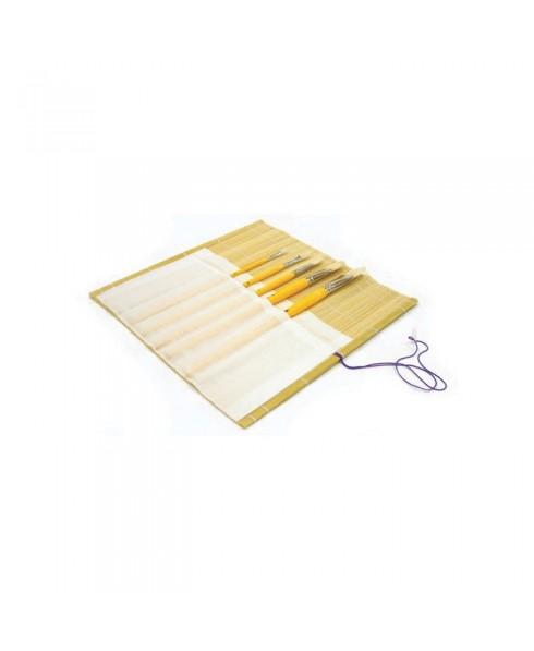 Portapinceles bamboo Artist con bolsa 33x33 cm