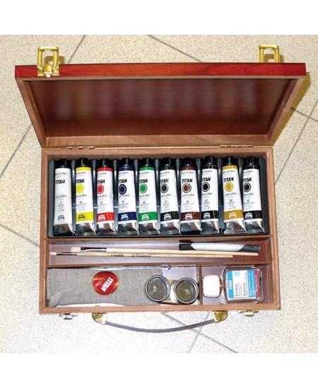 Caja de 10 oleos titan extrafino 40 ml
