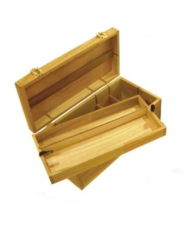 Caja de madera estudio Artist grande 41x20x15 cm