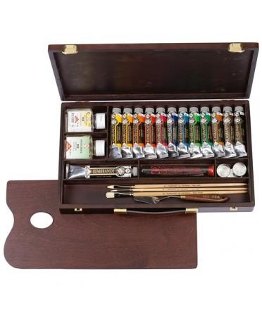 Caja de óleos rembrandt professional