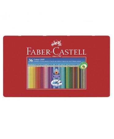 Estuche de metal 36 lápices triangulares Faber-Castell