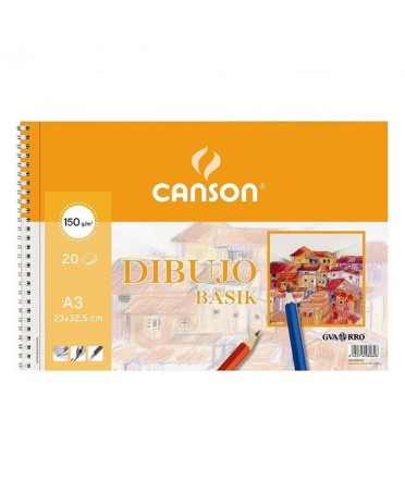 Bloc de dibujo Basik premium Canson 20 hojas 150 gramos