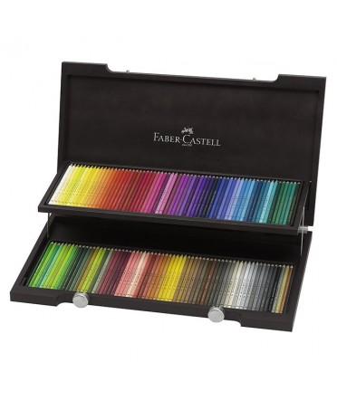 Estuche de madera 120 lápices Polychromos Faber-Castell
