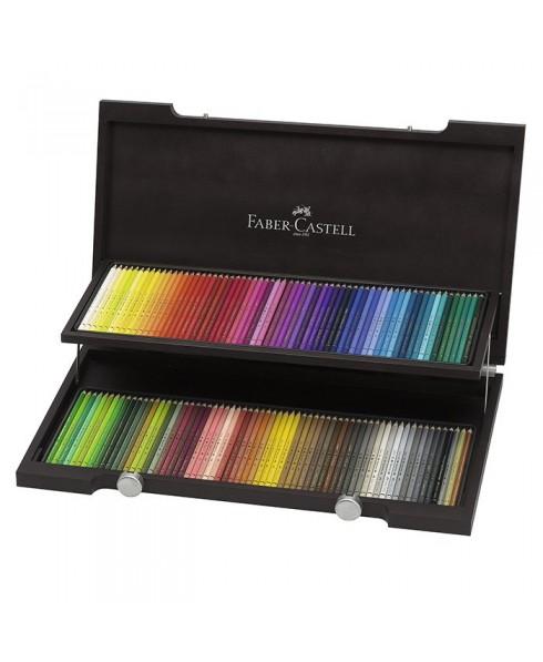 Estuche de madera faber-castell 120 lapiceros policolores
