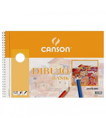 Pack dibujo Basik Canson con recuadro 10 hojas 130 gramos
