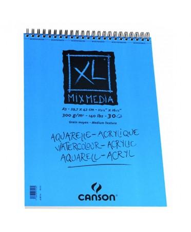 Bloc XL Mix Media Canson 30 hojas 300 gramos