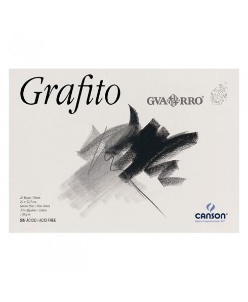 Bloc Grafito Guarro encolados 1 lado 20 hojas 160 gramos
