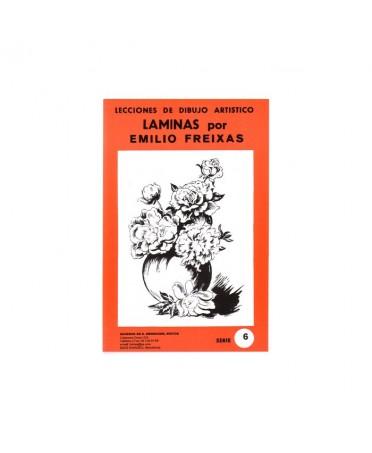 Serie Roja Emilio Freixas carpeta con 12 Laminas - Flores y plantas