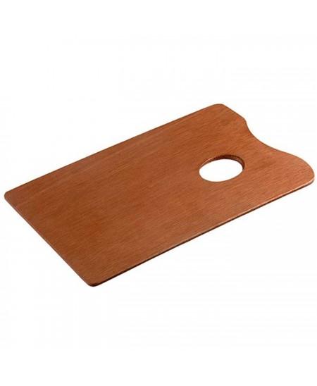 Paleta de madera rectangular Talens sin barnizar