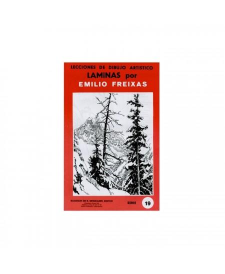 Serie Roja Emilio Freixas carpeta con 12 Laminas - Paisajes a pluma