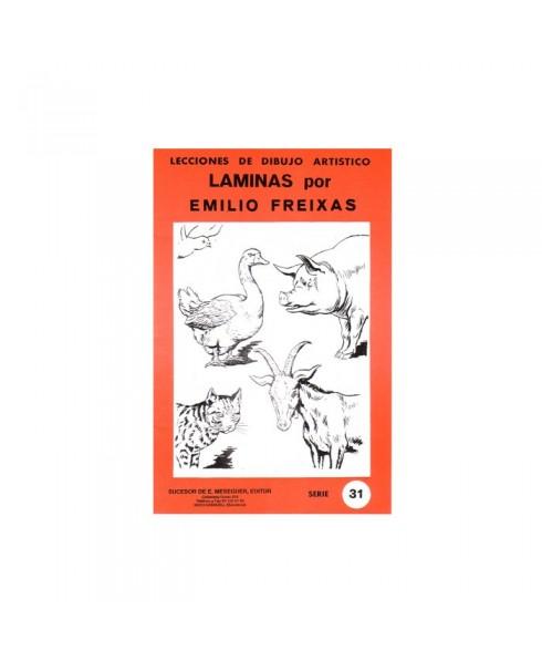 Serie Roja Emilio Freixas carpeta con 12 Laminas - Animales domésticos