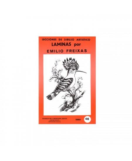 Serie Roja Emilio Freixas carpeta con 12 Laminas - Pájaros