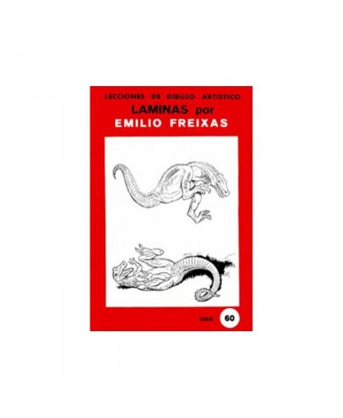 Serie Roja Emilio Freixas carpeta con 12 Laminas - Dinosaurios y reptiles