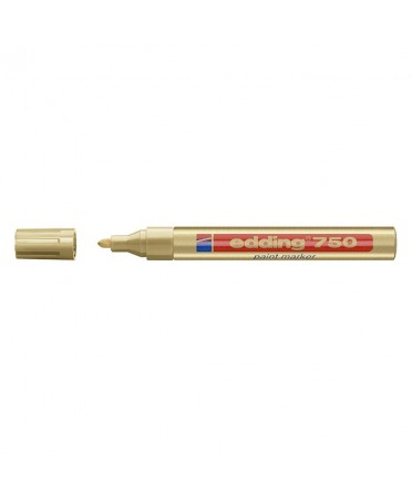 Rotulador Edding 750 efecto lacado de punta redonda 2-4 mm