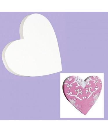 Corazón para decorar blanco 1.5x12x12 cm