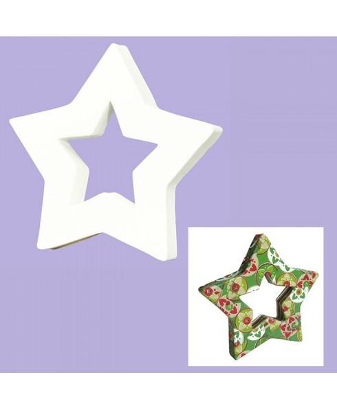 Estrella para decorar blanca Silueta 1.5x12x12 cm