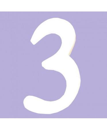 Numero blanco para decorar 7.7x1.5x12 cm