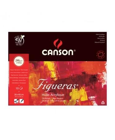 Bloc Figueras Canson encolados 1 lado 10 hojas 290 gramos