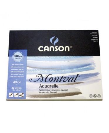 Bloc acuarela Montval Canson encolados 1 lado 200 gramos