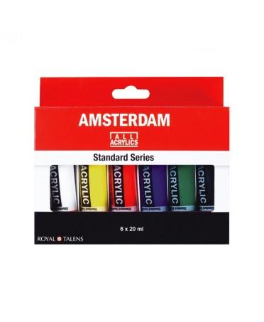 Set Acrilico Amsterdam 6 Tubos 20 ml