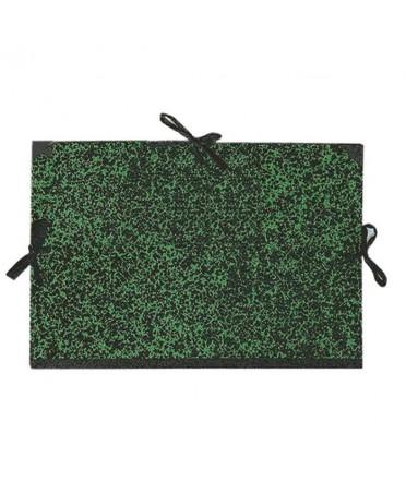 Carpeta de carton con cintas Dalbe color verde annonay