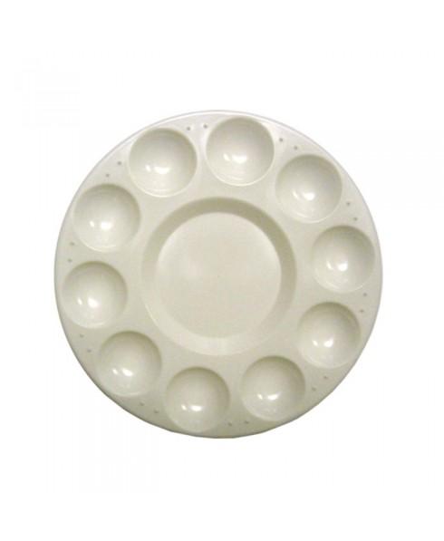 Paleta plastico circular Artist 17 cm