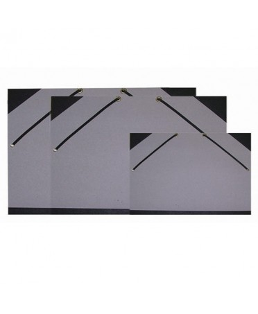 Carpeta dibujo gris Dalbe con gomas elasticas
