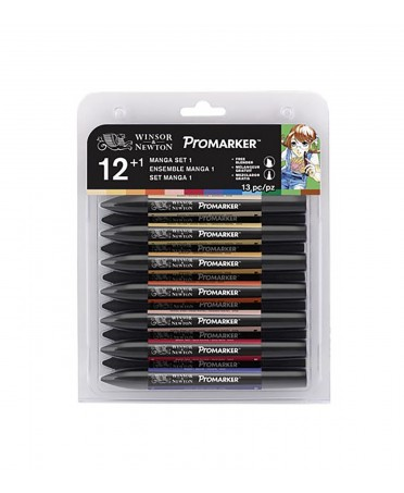 Set 12+1 Promarker Manga Expansion Pack 1 Winsor & Newton