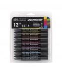 Set 12+1 rotulador alcohol Brushmarker Tonos Vibrantes Winsor & Newton