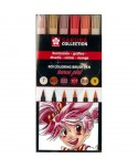 Set Rotulador Pincel Manga Koi Sakura Color Tonos Piel