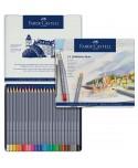 Estuche metálico Goldfaber Aqua de 24 lápices acuarelables Faber-Castell