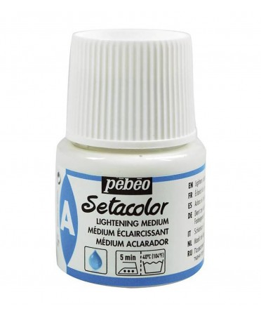 Medium Aclarador Setacolor Pintura de Tela 45 ml Pebeo