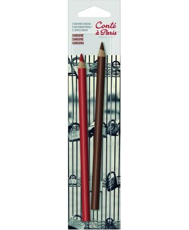 Blister 2 lápices Contè Sepia y Sanguina