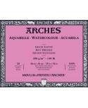Bloc acuarela Arches encolado 4 lados 20 hojas 300 gramos