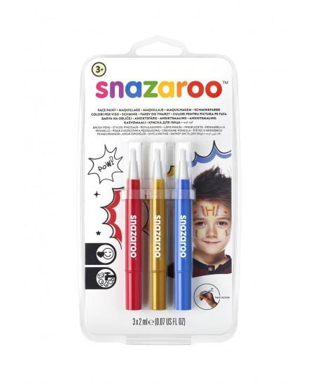Set 3 rotuladores maquillaje Aventura Snazaroo