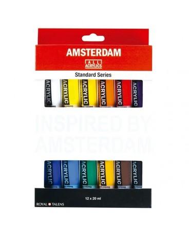 Set de 12 acrilicos amsterdam