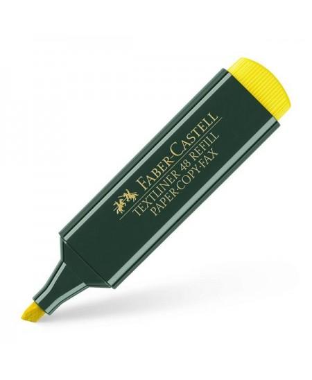 Rotulador marcador fluorescente amarillo Faber-Castell
