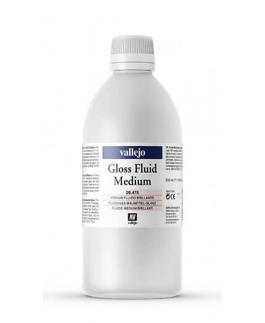 Medium acrílico fluido brillante Vallejo 500 ml
