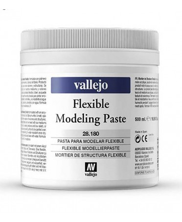 Pasta para modelar flexible Vallejo 500 ml.