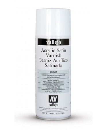 Barniz acrílico satinado en spray Vallejo 400 ml