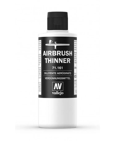 Diluyente para aerógrafo Airbrush Thinner 161 Vallejo 200 ml.