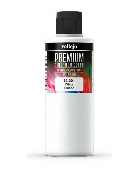 Acrílico Premium blanco para aerógrafo Vallejo 200 ml