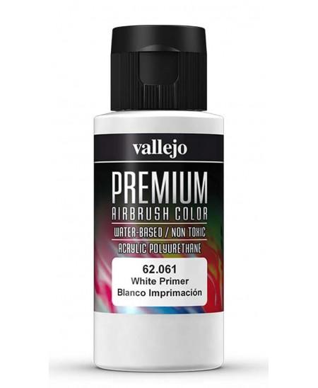 Imprimación Blanca para aerógrafo Premium acrylic Vallejo 60 ml