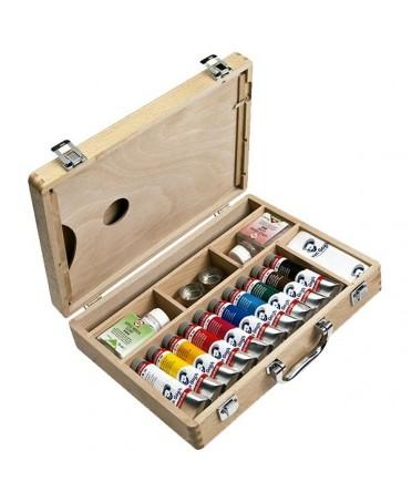 Caja de madera de 10 tubos acrílicos Van Gogh TALENS