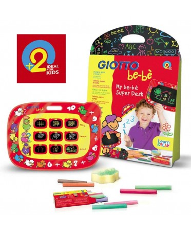Set Súper Pizarra + Tizas Giotto be-bè para niños