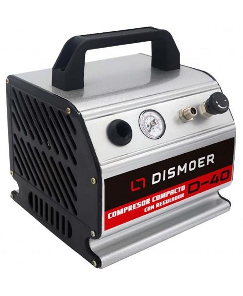 Compresor Compacto Aerografía sin aceite y Manómetro DISMOER D-40