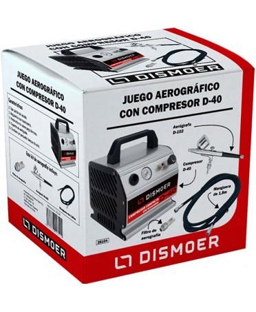 Juego Aerógrafico Compresor DISMOER D-40