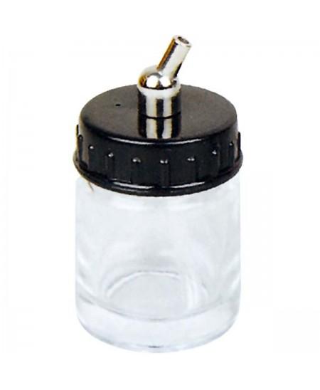 Frasco Cristal con sifón para aerógrafo 22cc.