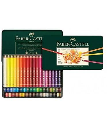 Estuche metálico 120 lápices Polychromos Faber Castell