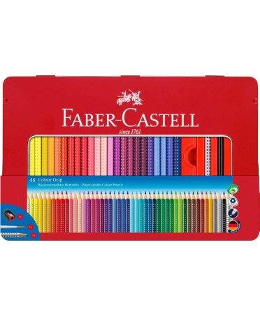 Estuche metal 48 lápices color Faber Castell